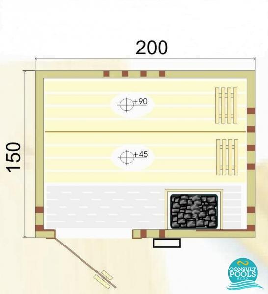 Cabina sauna uscata CM 2