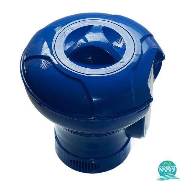 Clorinator plutitor albastru cu termometru