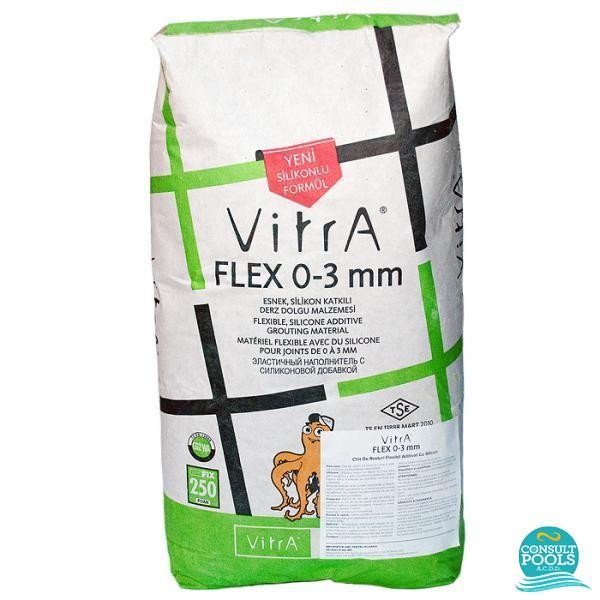 Kit flexibil alb Vitrafix FLEX 0 3 mm 20 kg