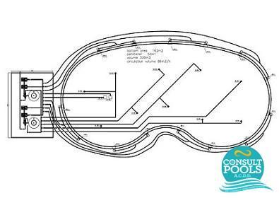Proiect piscina cu luciu de apa