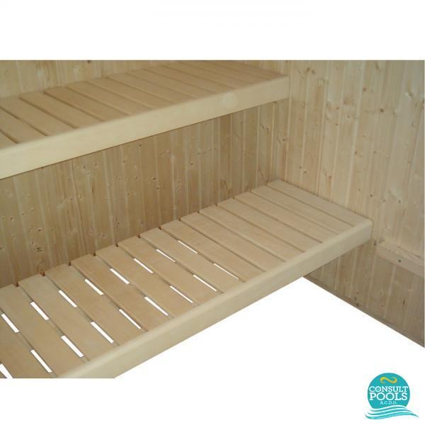 Bancheta din abachi pentru sauna uscata