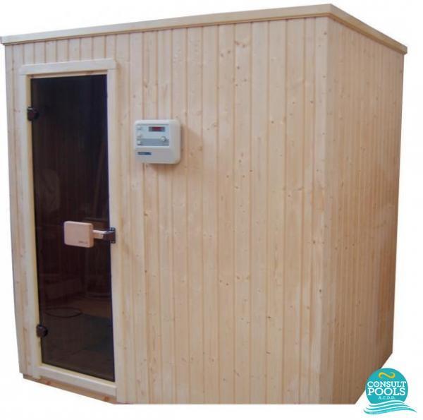 Cabina sauna modulara standard, molid, 200 * 200 * 210