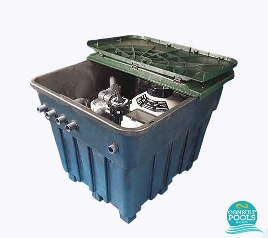 Camin sistem filtrare piscina volum 60 80 mc
