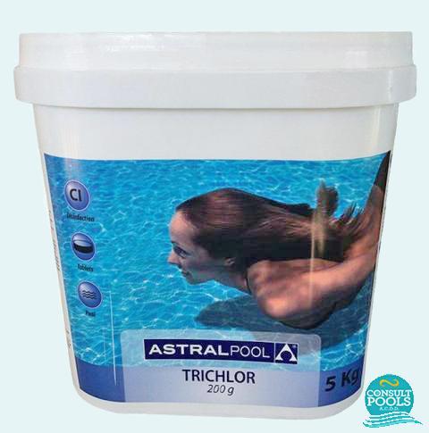 Clor lent tablete 200 gr, 86%, Triclor, Astral Pool 5 kg