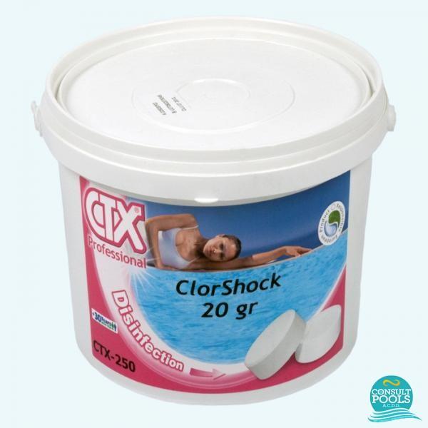 Clor rapid pentru piscina tablete CTX 250 -5 kg