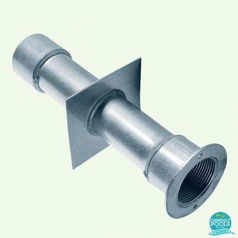 Conducta de perete inox AISI-304, 240 mm, 1 1/2