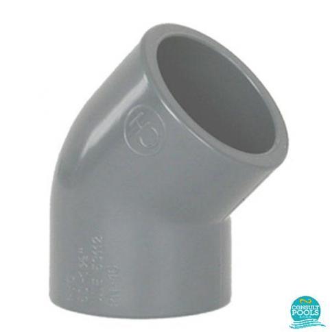 Cot PVC U D50 45 grade lipire lipire 2050