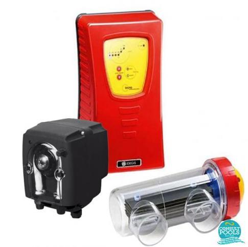 Electrolizor de sare Idegis 25 mc cu pompa ph integrat Tecno DT-7PPH