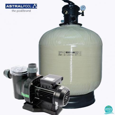 Kit echipament piscina volum 45 mc si 60 mc Astral Pool, debit 9 mc/h, filtru Ivory 66244, pompa Sena 25463, 220 V, IS60