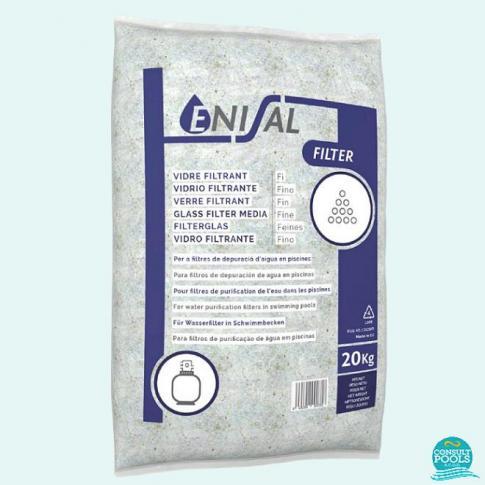 Nisip material filtrant sticla piscina 0.6 - 1.2 mm Enisal
