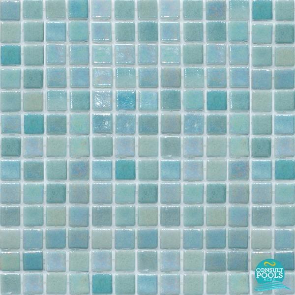 Mozaic piscina mixt bleu sidef