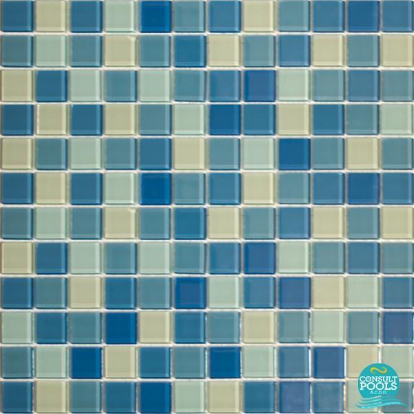 Mozaic piscina mixt albastru Togama PC2012