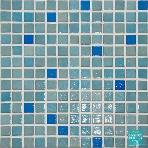Mozaic piscina mixt Astral Pool albastru Marin 2.5 * 2.5 cm