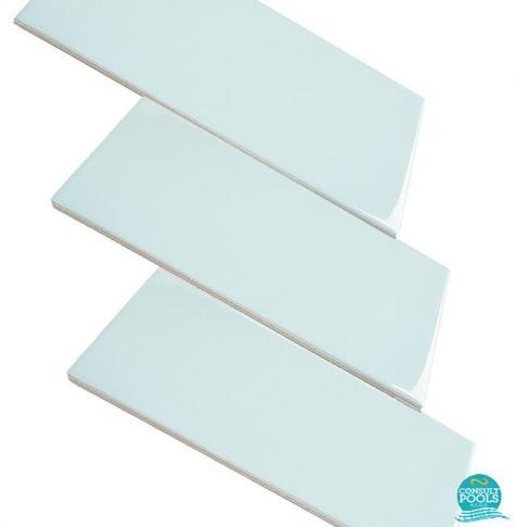 Placi ceramice piscina Vitra albastru deschis 12.5 * 25.0 cm