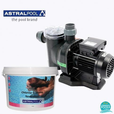 Set pompa piscina Sena 8.5 mc/h, plus neutralizator 6 kg, Astral Pool