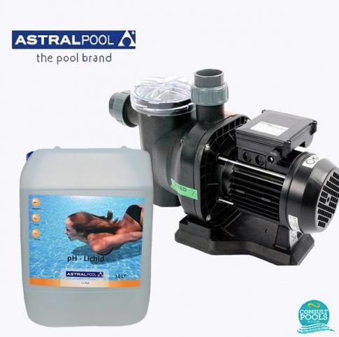 Set pompa piscina Sena 7 mc/h, plus ph minus lichid 10 l, Astral Pool