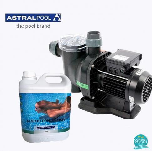 Set pompa piscina Sena 9 mc/h, plus antialge concentrat 5 l, Astral Pool