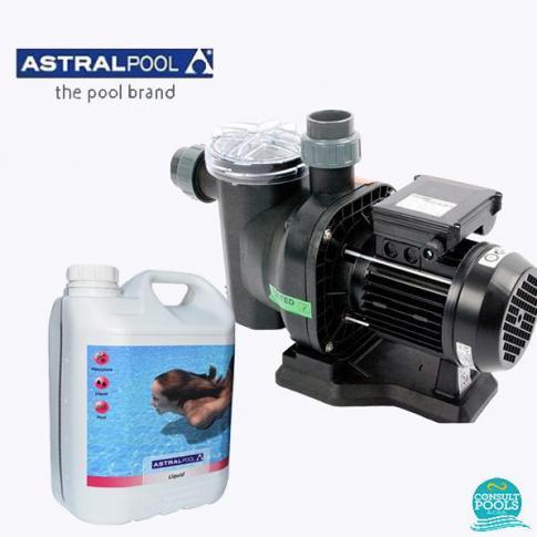 Set pompa piscina Sena 9 mc/h, plus floculant 5 l, Astral Pool