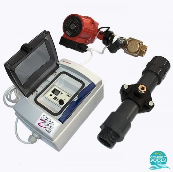 Automatizare schimbator caldura piscina 75 kw