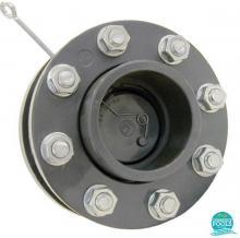 Clapeta de sens PVC cu flanse D140 Coraplax
