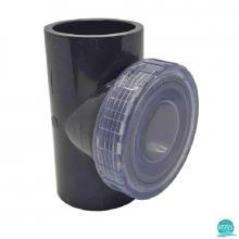 Clapeta de sens PVC U D50 cu capac transparent