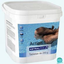 Clor multifunctional 10  efecte 250 gr Astral Pool - 5 kg