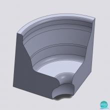 Colt ergonomic baie de aburi, pentru bancheta ergonomica, polistiren alb, 55 * 45 * 95 cm PoolZone