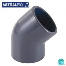 Cot PVC U D63 45 grade lipire lipire Astral Pool