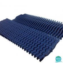 Gratar piscina perimetral albastru abs 195 mm 34190RAL5003