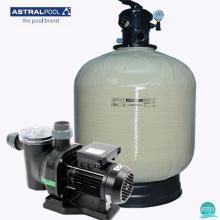 Kit echipament piscina volum 90 mc Astral Pool, debit 14 mc/h, filtru Ivory 66245, pompa Sena 25467, 220 V, IS90