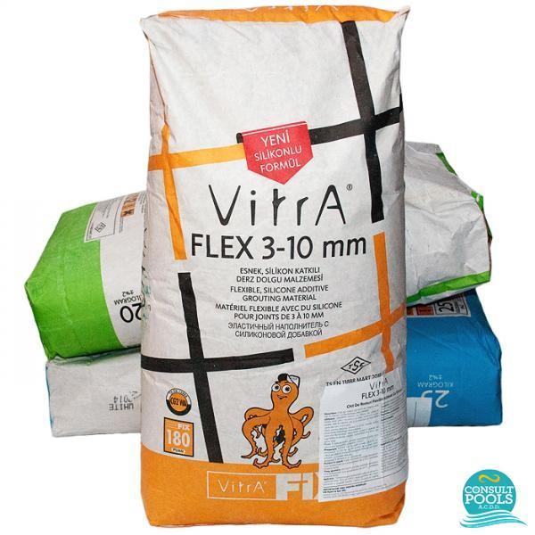 Kit flexibil alb Vitrafix FLEX 3 10 mm 20 kg