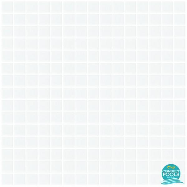 Mozaic piscina alb clasic L11