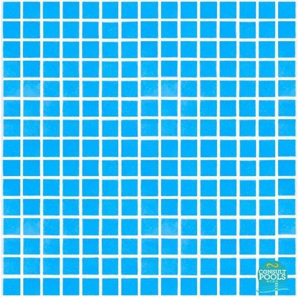 Mozaic piscina albastru unique