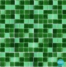 Mozaic piscina mix verde inchis