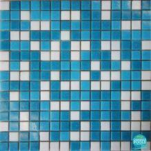 Mozaic piscina mixt albastru deschis 2 nuante PS01