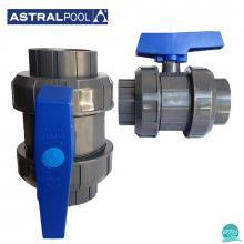 Robinet PVC U D50 cu bila Astral Pool