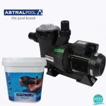 Set pompa piscina Victoria Plus 11 mc/h, plus clor lent tablete 250 gr 5 kg, Astral Pool