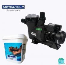 Set pompa piscina Victoria Plus 11 mc/h, plus clor soc 5 kg, Astral Pool