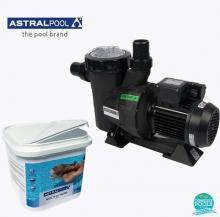 Set pompa piscina Victoria Plus 11 mc/h, plus clor triplex multi actiune 250 gr 5 kg, Astral Pool
