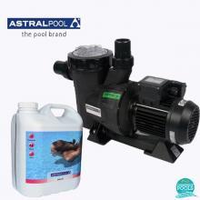 Set pompa piscina Victoria Plus 11 mc/h, plus antialge cu limpezire 5 l, Astral Pool