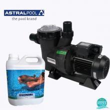 Set pompa piscina Victoria Plus11 mc/h, plus antialge concentrat 5 l, Astral Pool